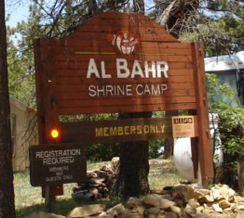 Shrine Camp Sign